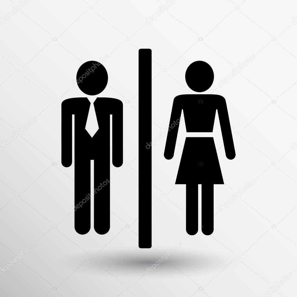 Man vrouw toilet teken pictogram vector knop logo symbool concept ...