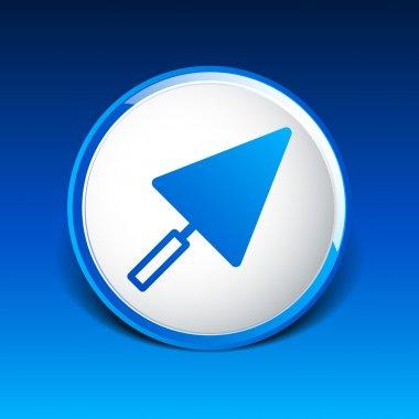 plastering trowel icon vector button logo symbol