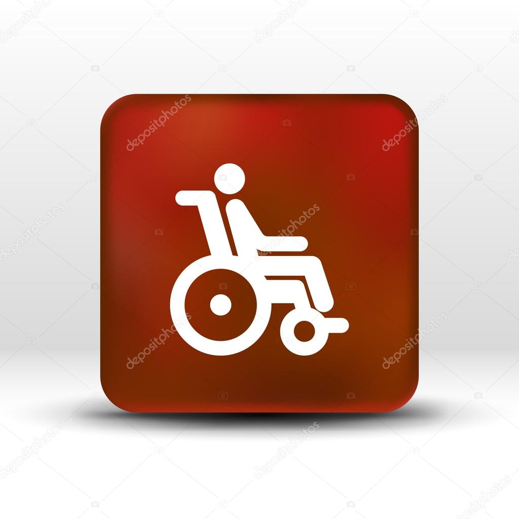 handicap handicapped chair wheel accessible an invalid icon — Stock ...