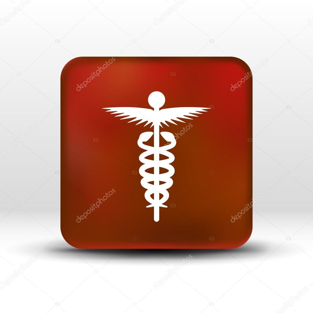 Medicine Icon Logo Symbol Snake Caduceus Doctor Stock Vector