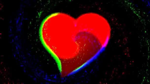 pozadí s abstraktním srdcem