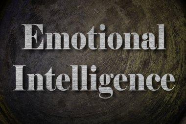 Emotional Intelligence Text on Background