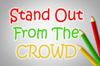 Stand Out From The Crowd Concept