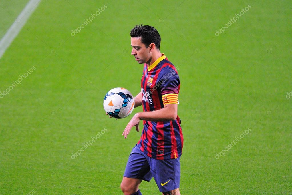 Xavi hernandez fc barcelona player in action barcelona apr 21 xavi hernandez fc barcelona player in action against athletic bilbao at the camp nou stadium on the spanish league on april 21 voltagebd Images