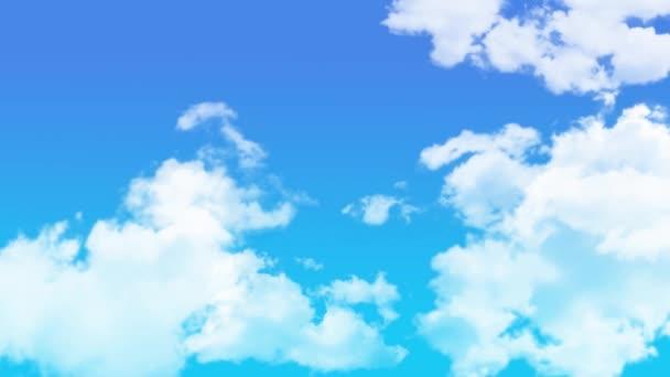 A kék égbolton áramló felhők animációja / 4K