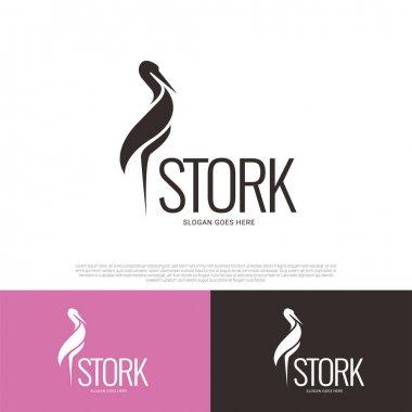 Stork bird logo icon symbol design icon