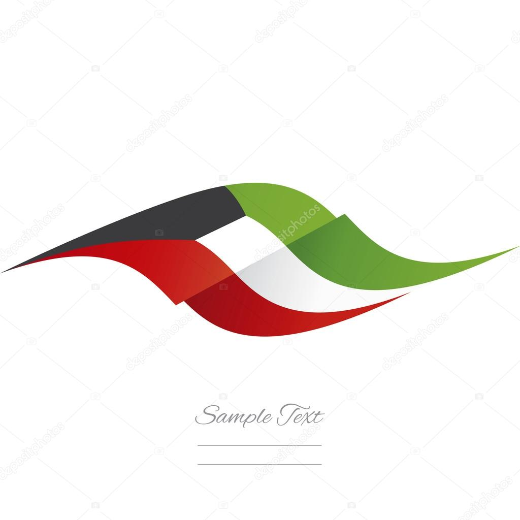 Abstract Kuwait Flag Ribbon Logo White Background Stock Vector C Simbos 106013378