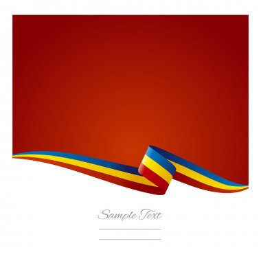 Abstract color background Romanian flag