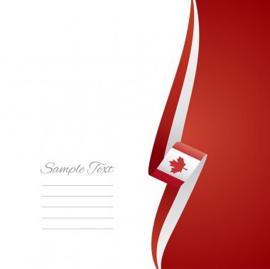 Canadian right side brochure cover vector