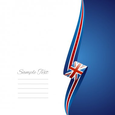 UK right side brochure cover vector