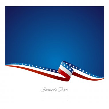 American flag ribbon abstract color background vector stock vector