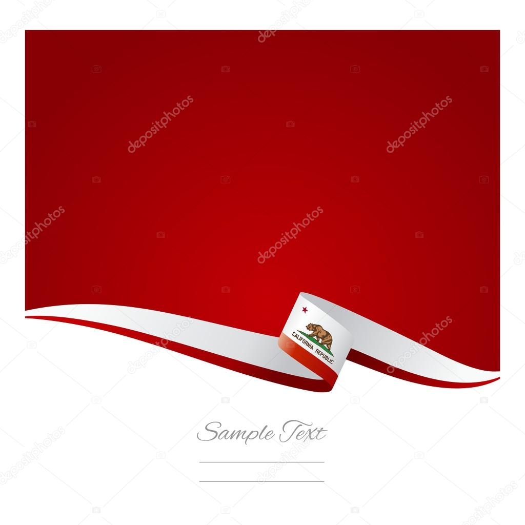 Abstract color background California flag vector