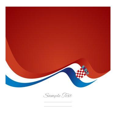 Abstract Croatian flag ribbon vector