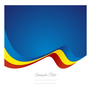 Abstract Romanian flag ribbon vector