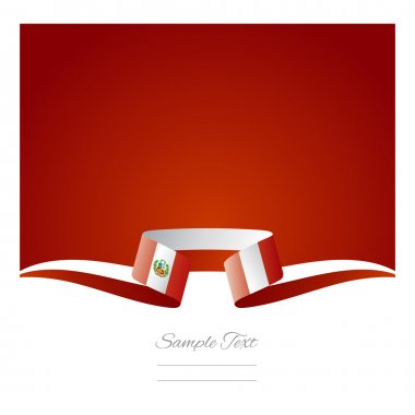 Abstract background Peruvian flag ribbon