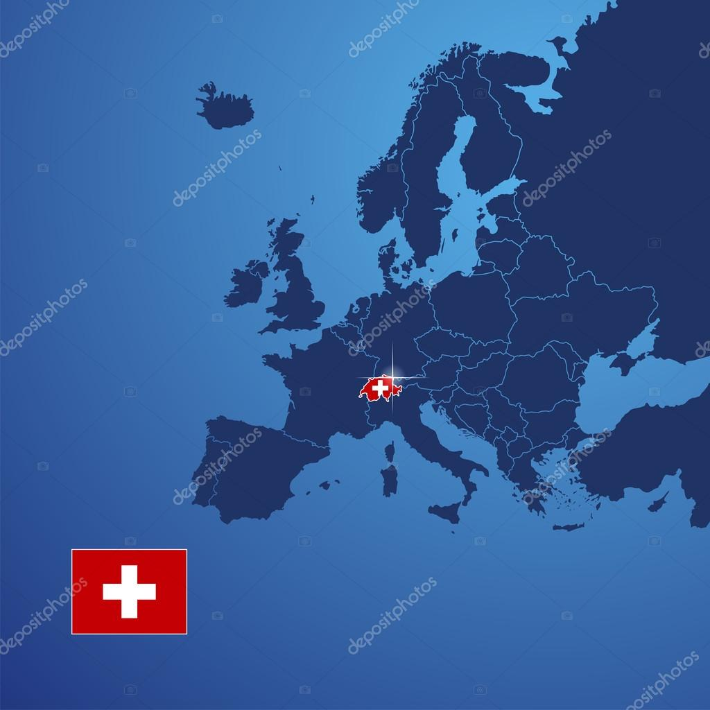 Schweiz Karte Abdeckung Vektor Stockvektor