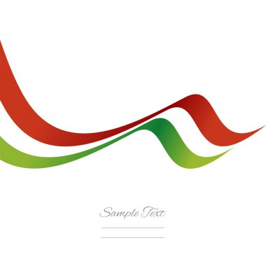 Abstract Italian ribbon vector