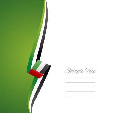 UAE left side brochure cover vector