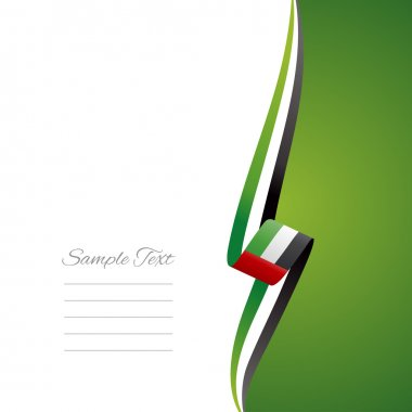 UAE right side brochure cover vector
