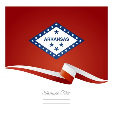 Arkansas flag ribbon vector