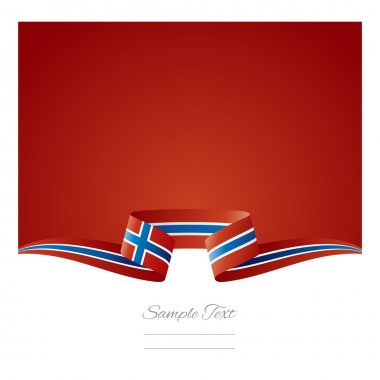 Abstract background Norway flag ribbon