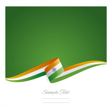 New abstract India flag ribbon