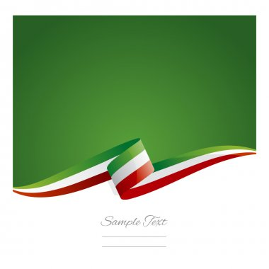 New abstract Mexico flag ribbon