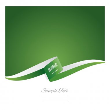 New abstract Saudi Arabia flag ribbon