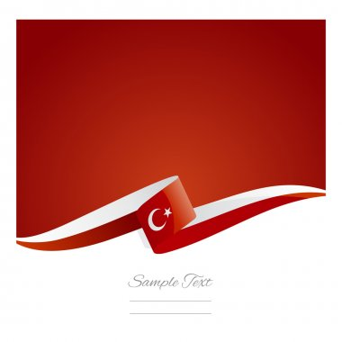 New abstract Turkey flag ribbon