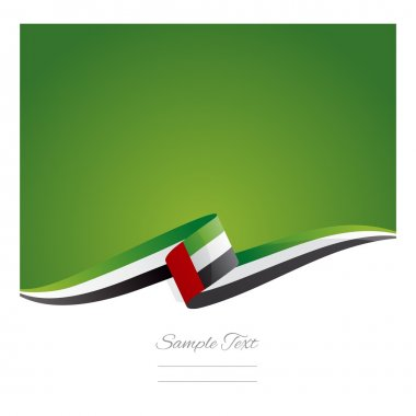 New abstract UAE flag ribbon