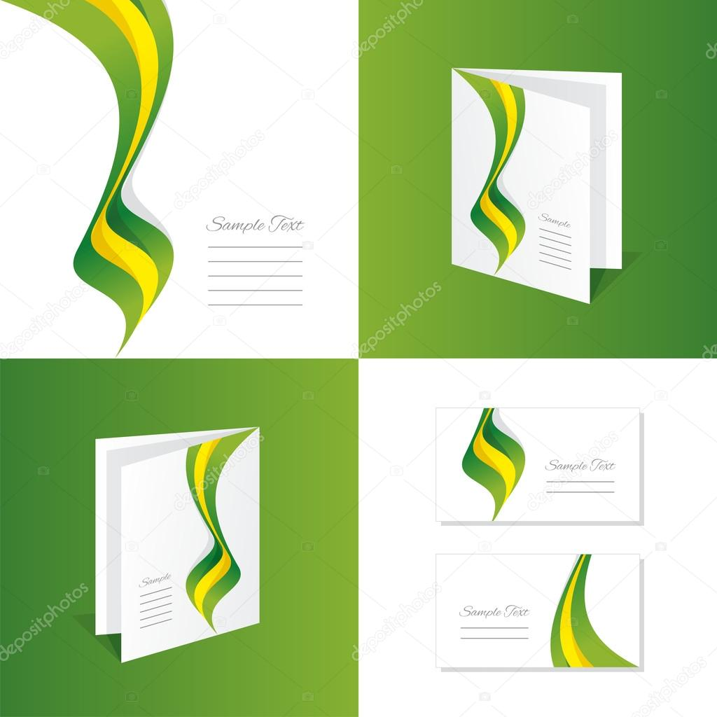abstract brazil brochure leaflet folder cover business card stock
