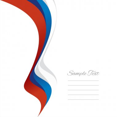 Abstract Russian left ribbon vector