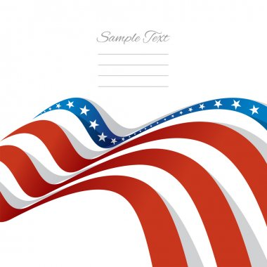 Abstract US flag left cover vector