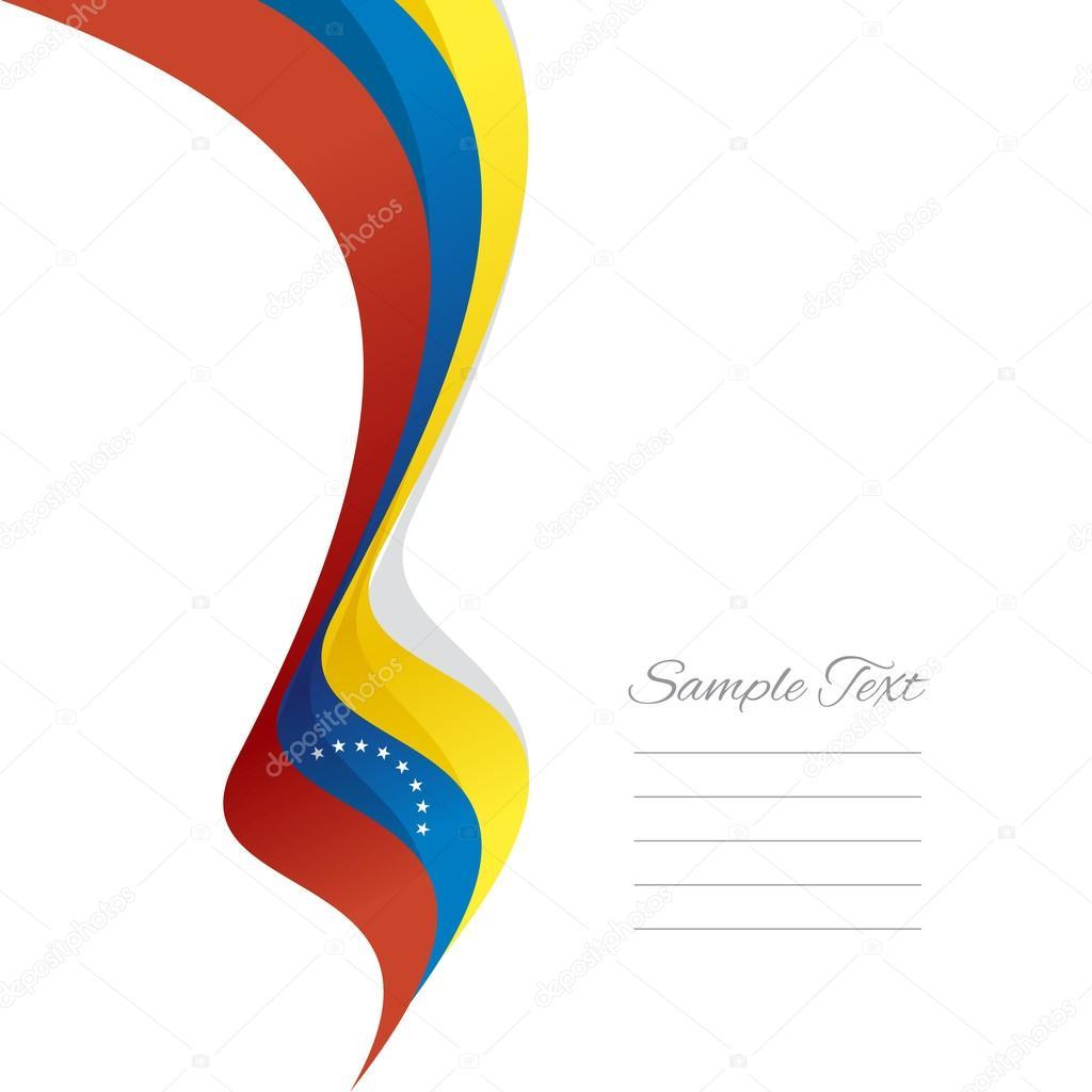 Abstract Venezuelan left ribbon vector