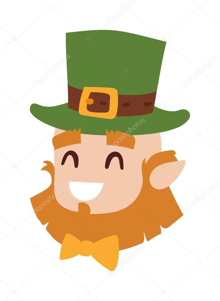 Vector Smiling Leprechaun Head The Symbol Of St Patrick Day