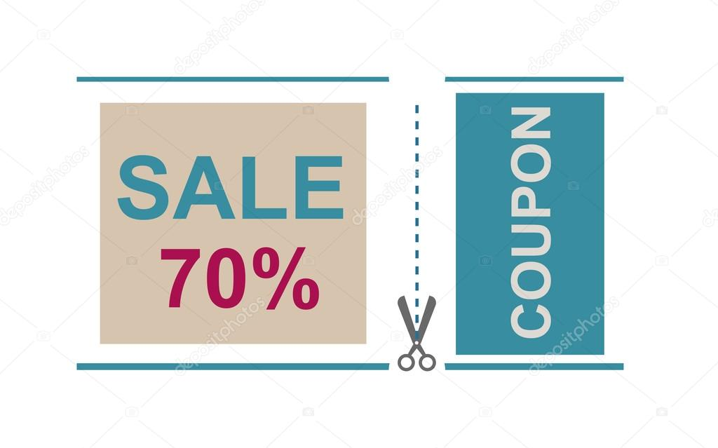 Sale Coupon Certificate Template Vector Illustration Stock Vector