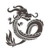 Fotografia Chinese dragon on white background vector illustration.
