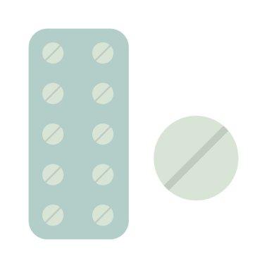 Medicine in tablet package vector illustration on white background.