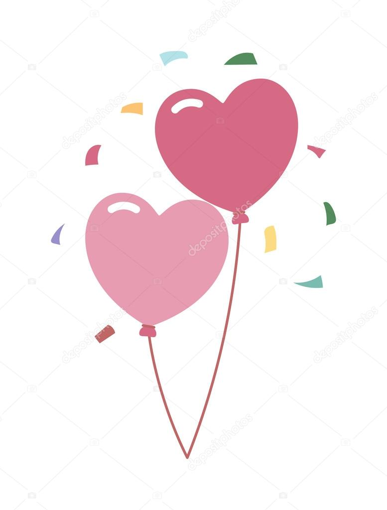 Wedding balloons romantic party decoration vector illustration wedding balloons romantic party decoration vector illustration vetor de stock junglespirit Gallery