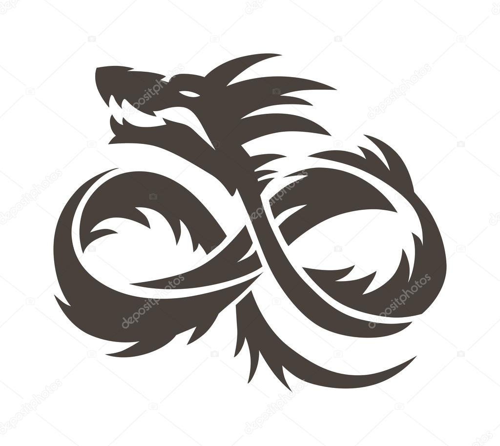 Chinese dragon on white background vector illustration stock chinese dragon on white background vector illustration vector chinese calligraphy for the tattoo chinese dragon symbol china symbol dragon silhouette biocorpaavc