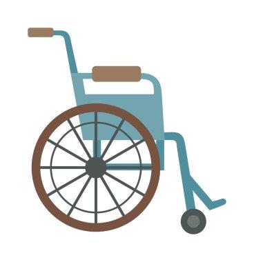 wheelchair flat design medical icon.