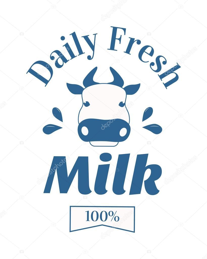 Milchkuh-Logo-Abzeichen Vektor-Vorlage, einige Natur Getränke-Label ...