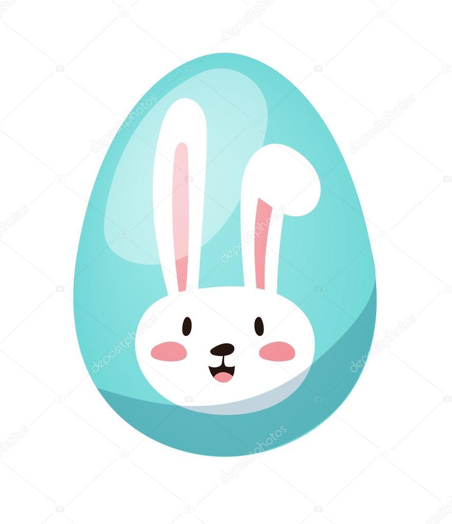 Color easter egg cartoon spring decoration and food symbol flat ...