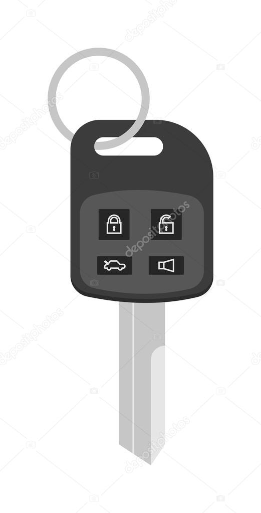 door lock and key cartoon. Automobile Keys Unlock Control, Car Safety Door System Vector. Security Key With Remote Control Cartoon Flat Vector Illustration. Lock And