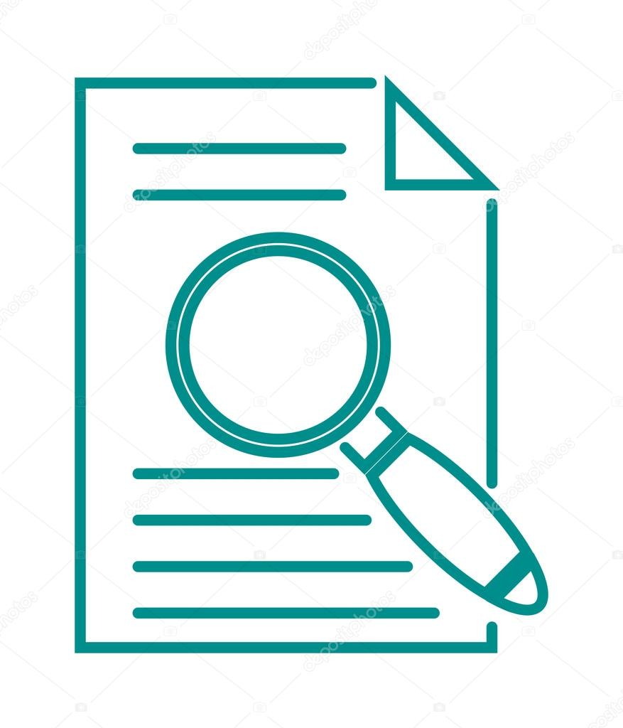Search in file sign icon find document symbol magnifying ...  Document Symbol