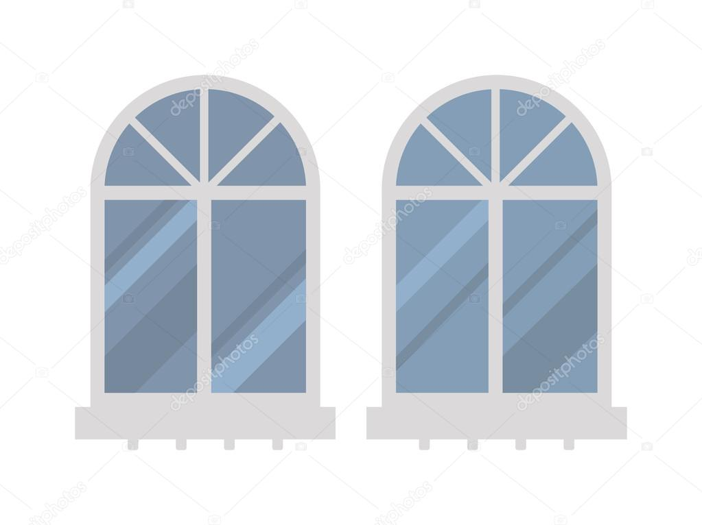 house windows types different types house windows vector elements isolated on white background stock vector