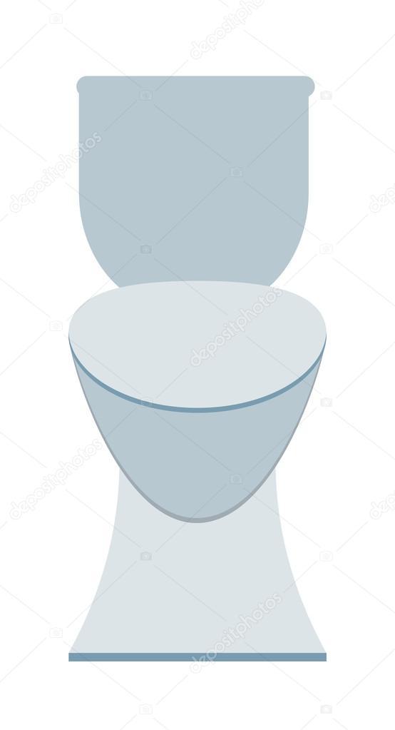 Bol De Toilette Propre Sanitaire Blanc Dans La Salle Bain Baignoire Design Toilettes Plat Vecteur Illustration Stock