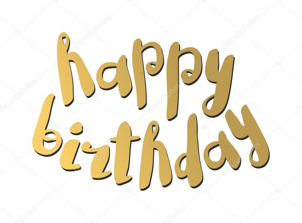 Gelukkige Verjaardag Tekst Hand Belettering Handgemaakte Kalligrafie