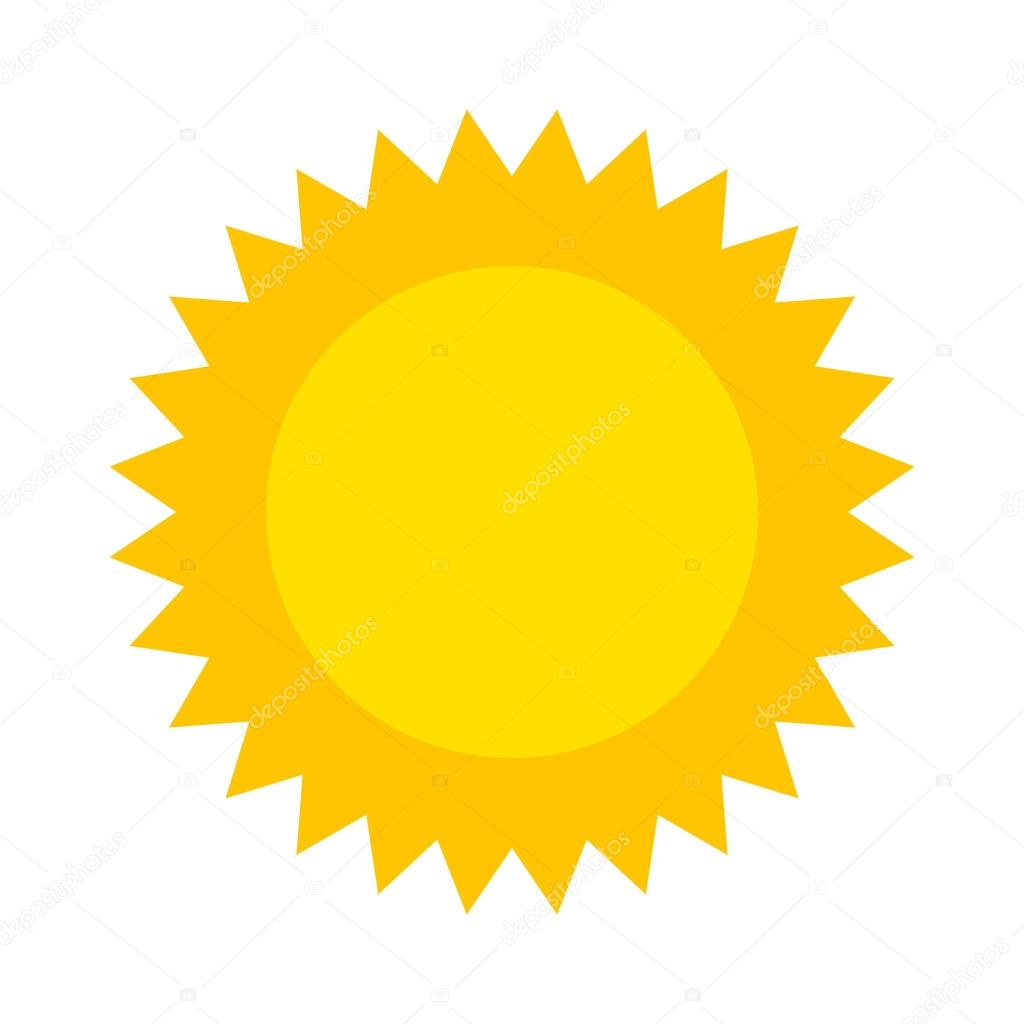 vector sun icon isolated on white background stock vector rh depositphotos com vector sunburst vector sunrise