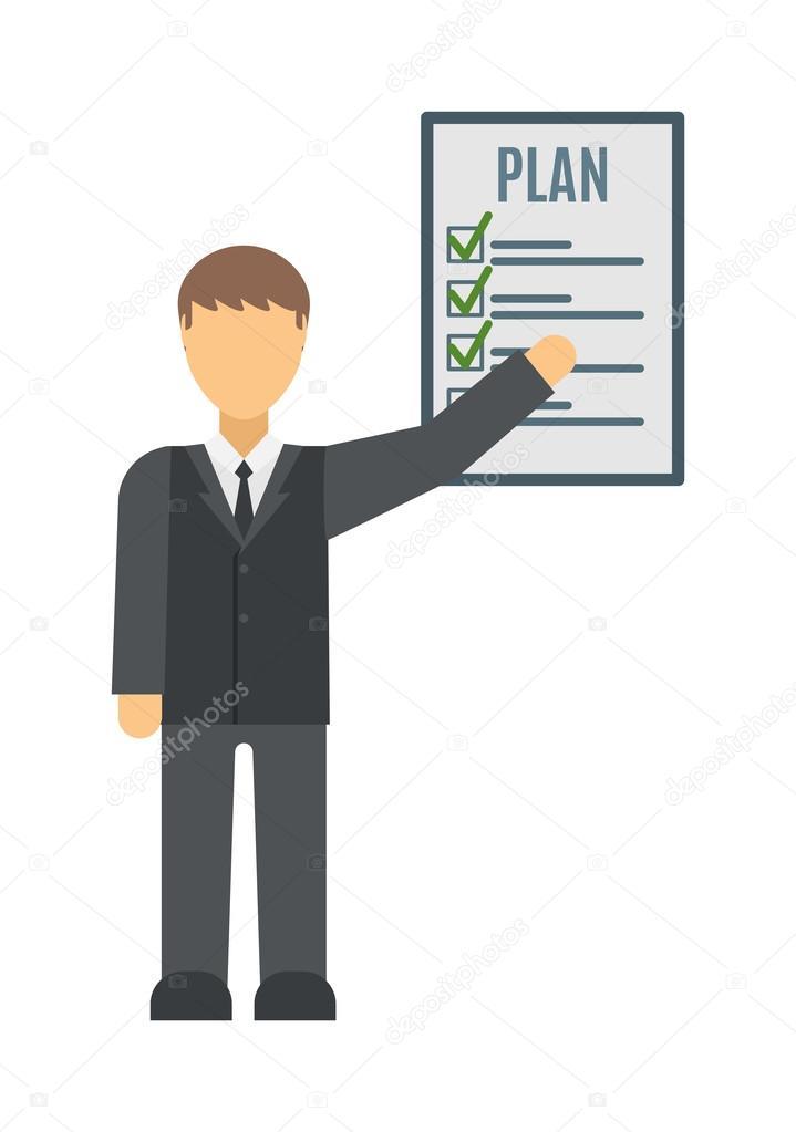 business plan strategy presentation vector stock vector adekvat